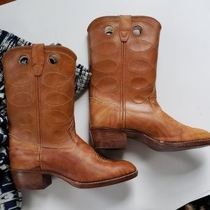 BOHO boots 6 all leather vintage
